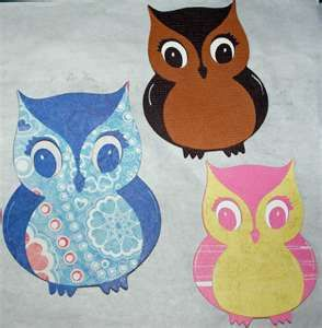 Crochet Owl Applique Pattern ~ Crochet Colorful