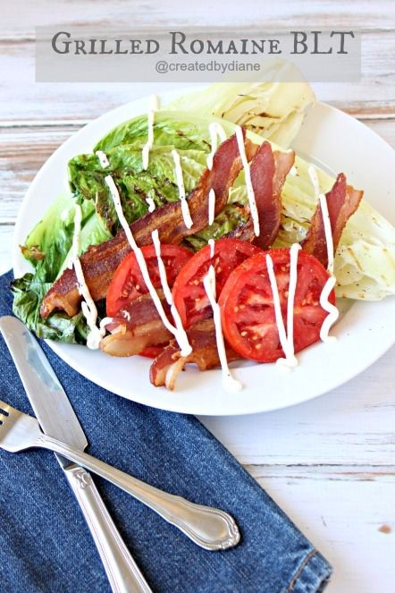 Grilled Romaine BLT by Createdby-Diane | Salads | Pinterest