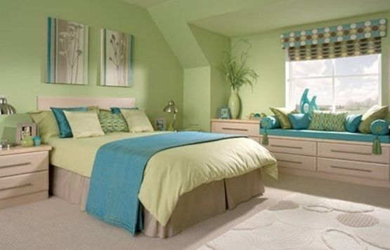 Blue And Green Bedroom Mesmerizing Design Review