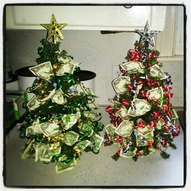 I made Christmas money trees! | Gifting | Pinterest
