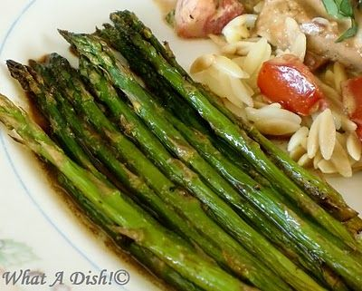 What A Dish!: Roasted Asparagus with Balsamic Butter Sauce