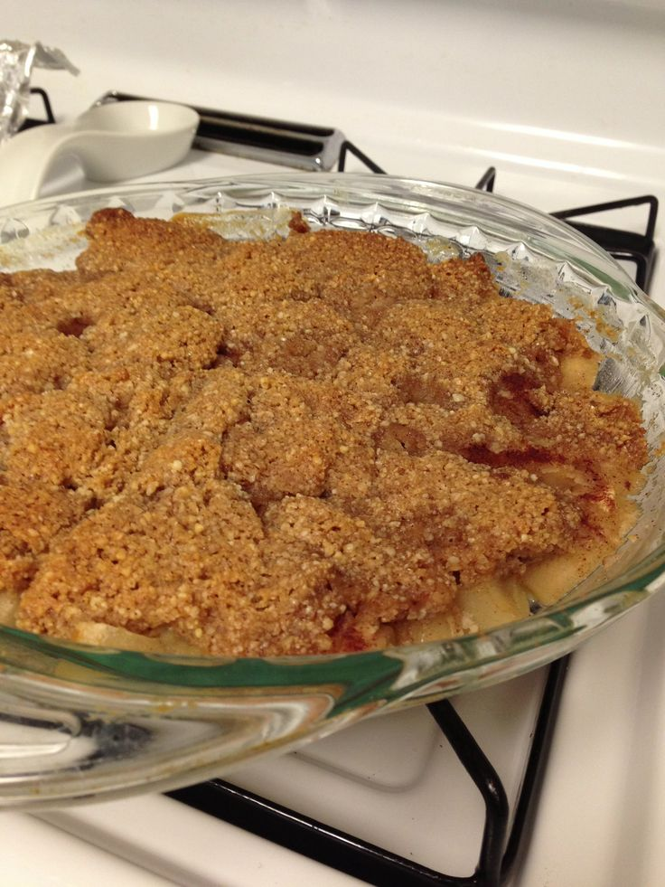GF/Paleo Apple Crisp, calls for almond flour, maybe do that a second ...