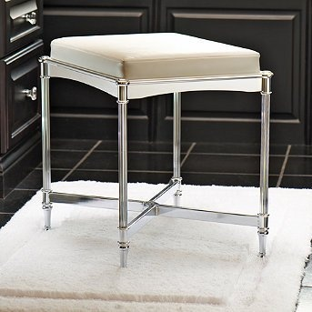 Bathroom Vanity Stool on Bathroom Belmont Vanity Stool   Brushed Gray         The Vanity Vein
