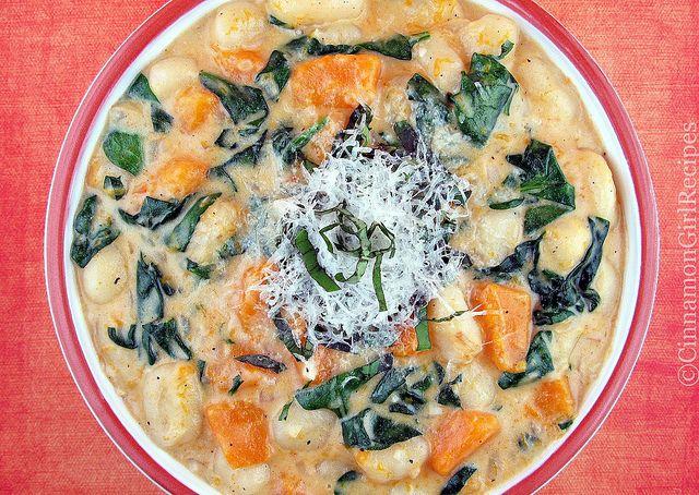 Creamy Gnocchi, Butternut Squash and Spinach | Recipe