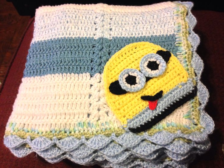 Crochet Pattern For Minion Blanket : Minion crochet blanket Crochet Pinterest