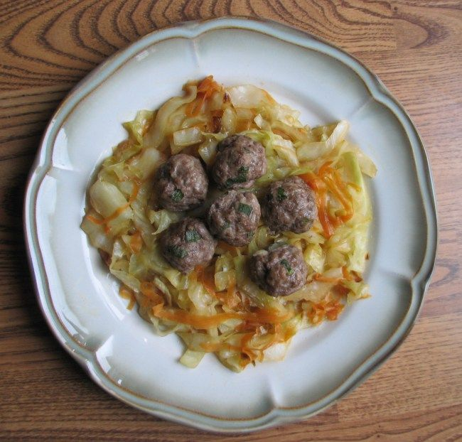 Sweet and Sour Cabbage with Asian Meatballs from The Sour Path is the ...