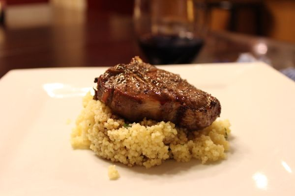 Broiled Lamb Loin Chops with Guinness Glaze