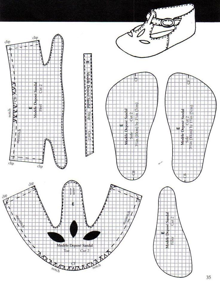 Туфли для кукол своими руками выкройки для начинающих поэтапно 32