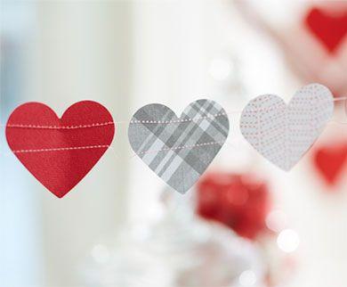 Sewn Heart Garland
