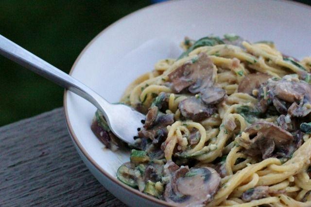 Vegetable pasta with miso tahini sauce | Lotsa Pasta | Pinterest