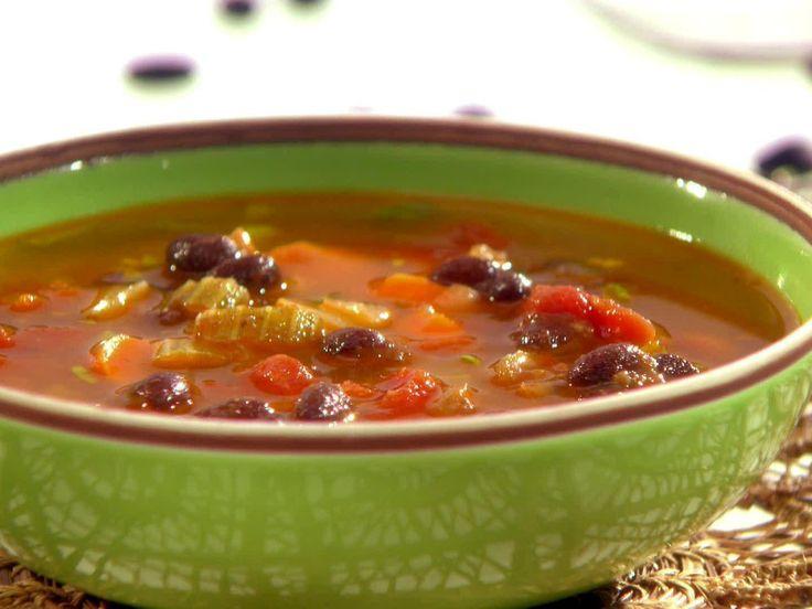 Black Bean Soup from Melissa d'Arabian