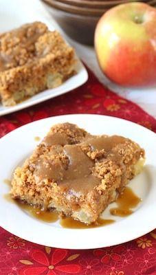 Apple Coffee Crumb Cake with Brown Sugar Glaze Recipe on ...