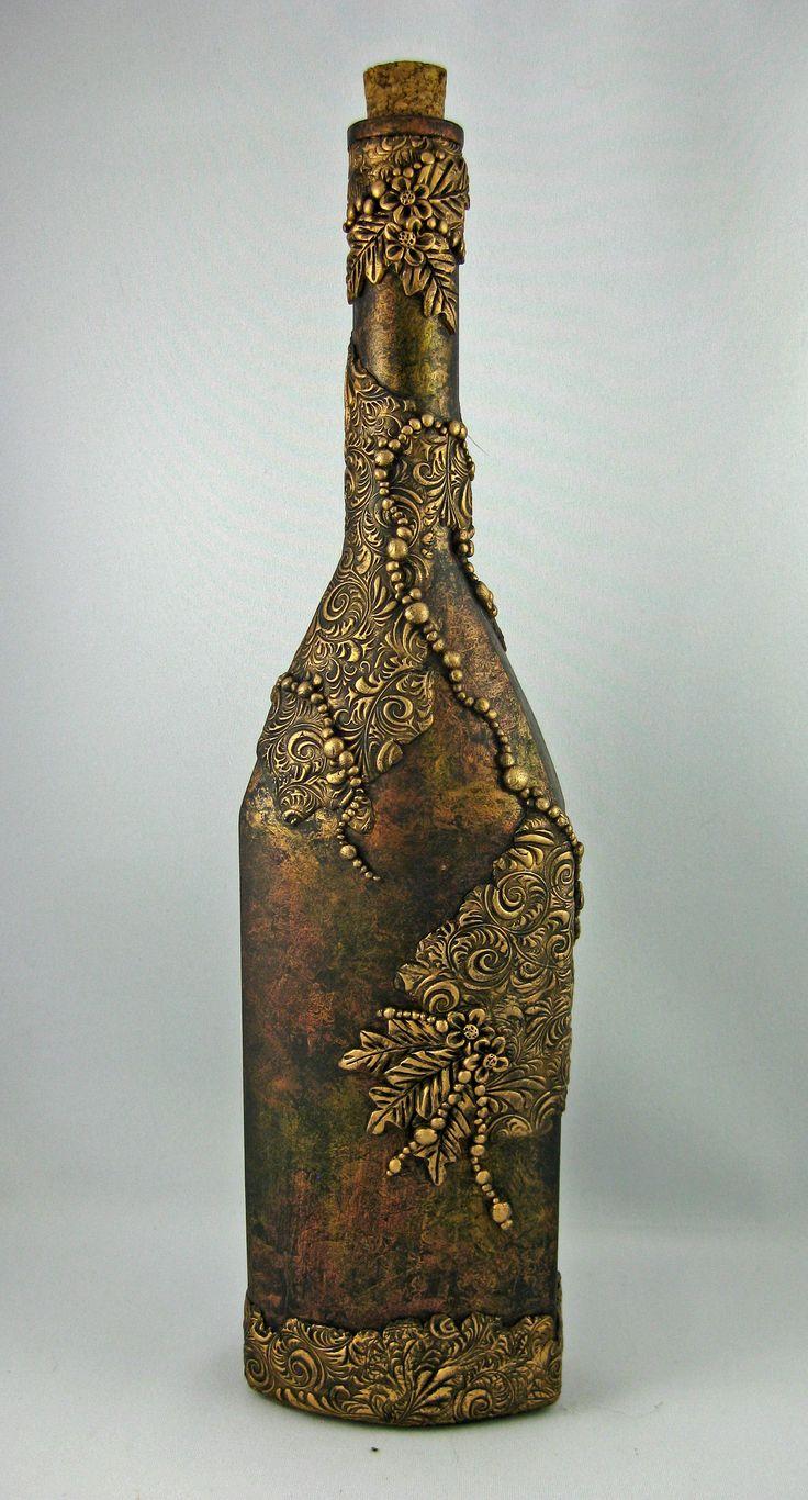 Бутылки из глины своими руками
