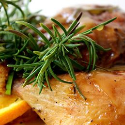 Orange Rosemary Roast Chicken | food | Pinterest