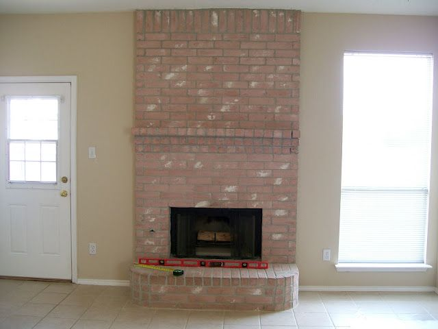 refacing brick fireplace for the home pinterest