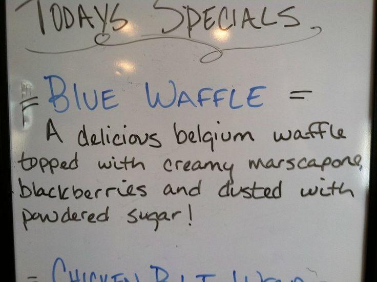 Look Desc Blue Waffle