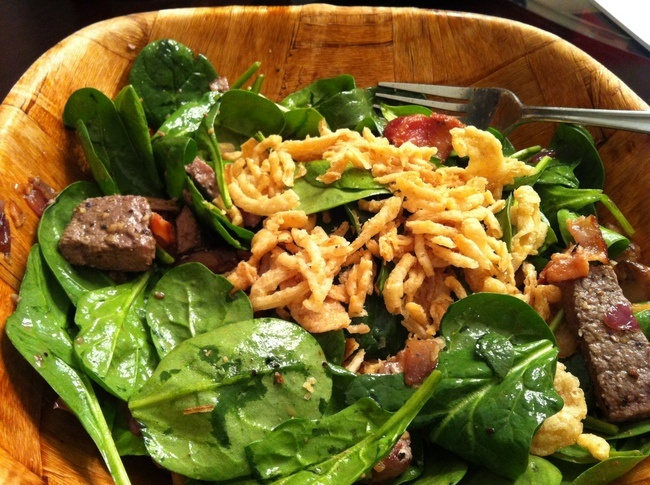 Warm Quinoa, Spinach, And Shiitake Salad Recipe — Dishmaps