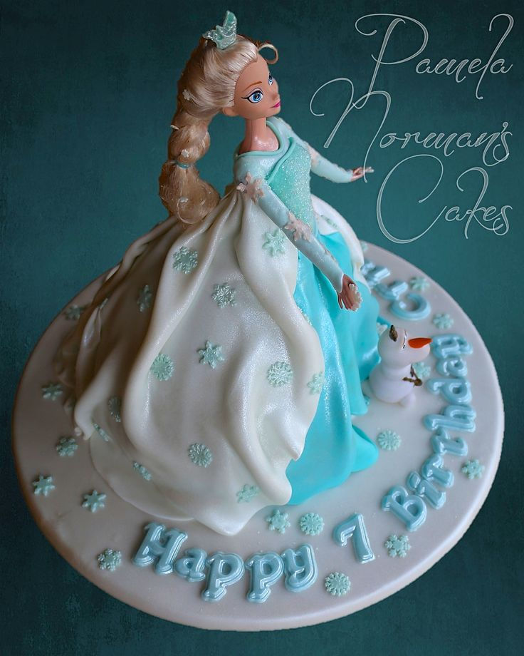 Decorating Ideas > Elsa Cake  Frozen  Anna And Elsa Frozen Party Idea  ~ 140939_Elsa Cake Decoration Ideas