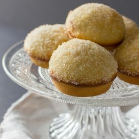 ... coated in cinnamon and sugar, and filled with homemade raspberry jam