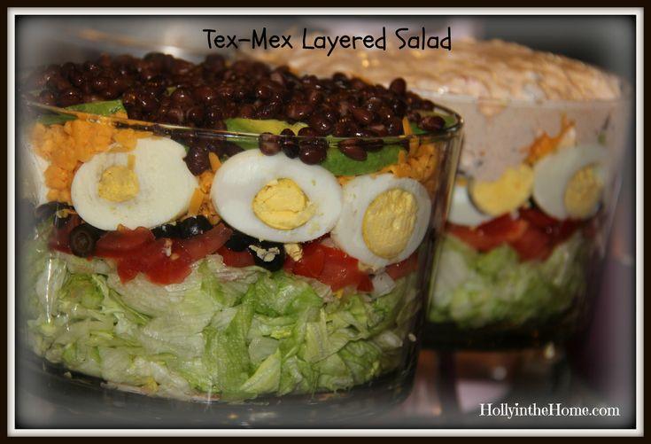 Tex-Mex salad http://hollyinthehome.com/tex-mex-layered-salad/