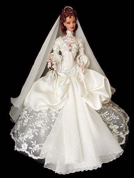 Как сшить для куклы барби с свадебных платьях 32