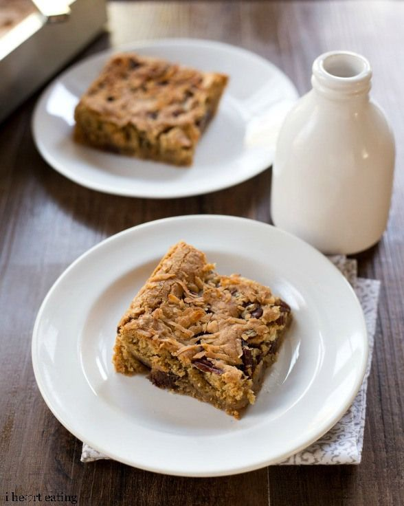 Browned Butter Blondies....w/chocolate chips, coconut & pecans