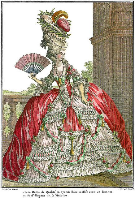 Marie Antoinette Style Fashion Plate by DarKaso, via Flickr