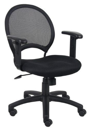 Boss Budget Mesh Office Chair With Adjustable Arms B6216 By BOSS