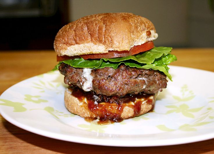 Blue Cheese and Bacon Burger with Our Sassy Pantry's Bacon Jam www ...