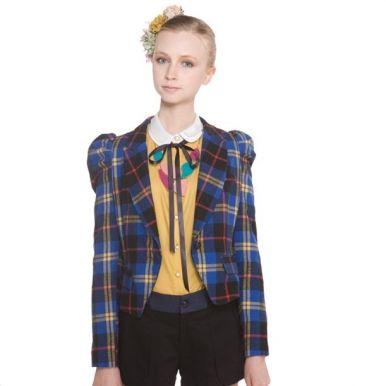Button Decorate Plaid Women Coats Sale | MODA!!!!! | Pinterest