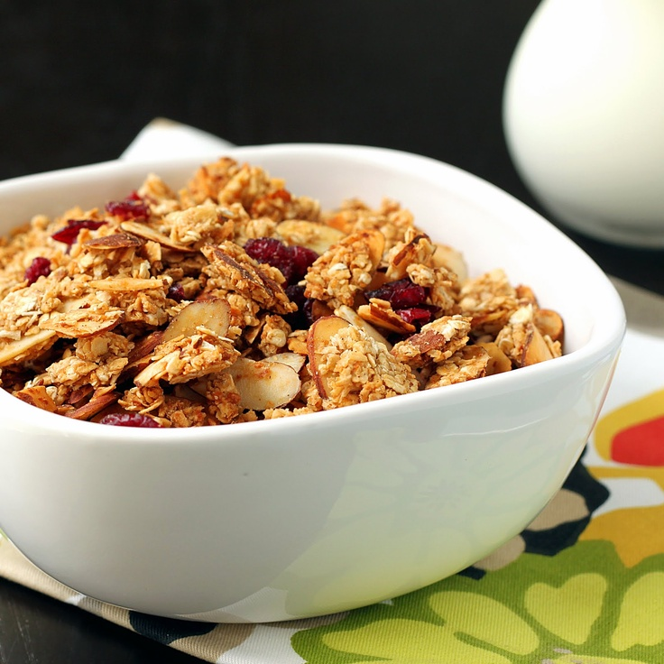 Cranberry Almond Granola-Left out wheat germ. Double cinnamon and ...
