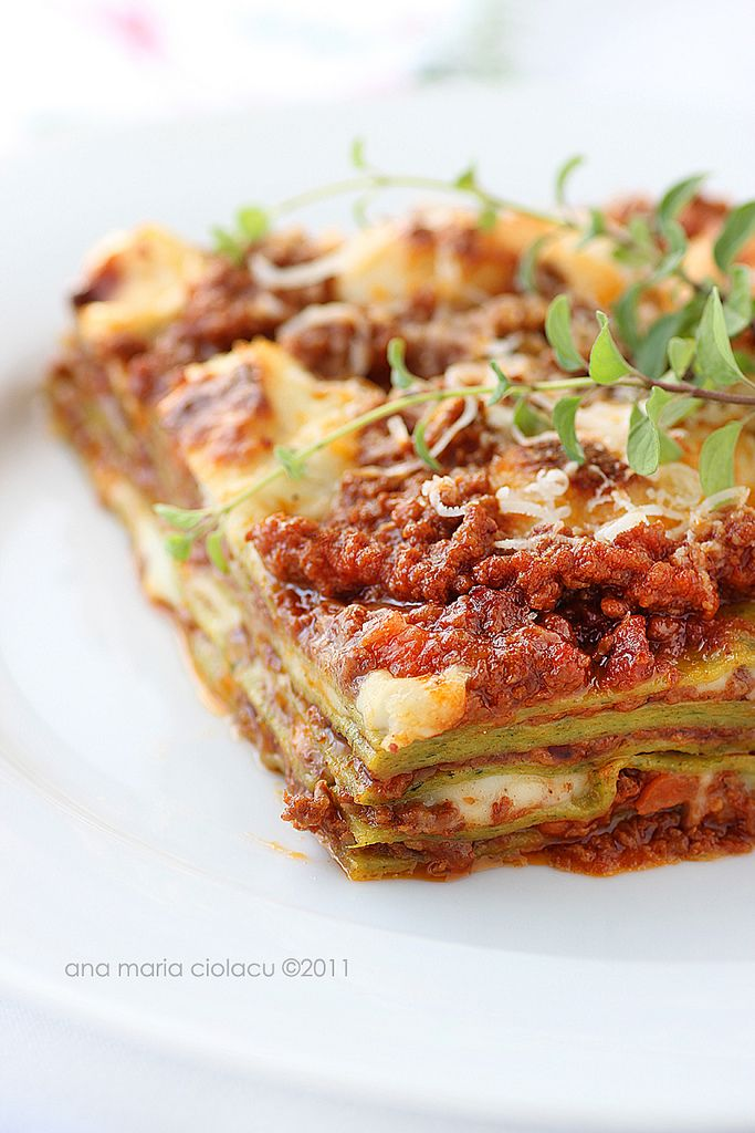 lasagne alla bolognese.