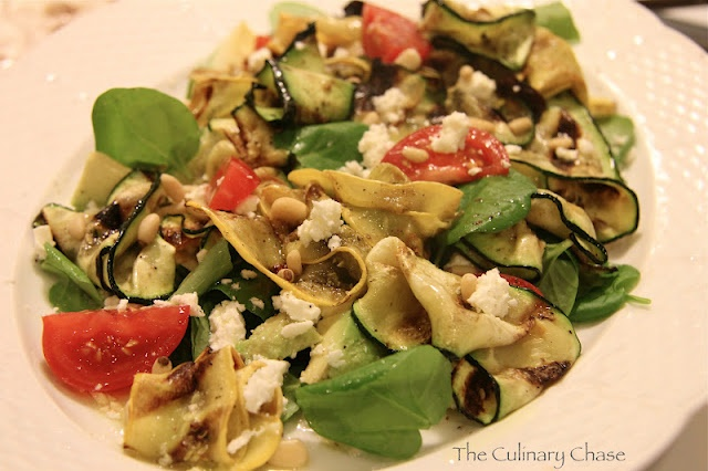 The Culinary Chase: Zucchini Ribbon Salad- sobe diet friendly!