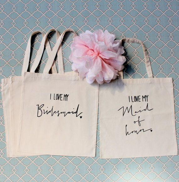 Cute wedding party gift bags