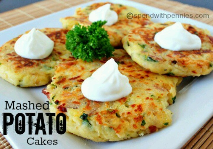 Loaded mashed potato cakes | Working Mom's Shortcuts | Pinterest