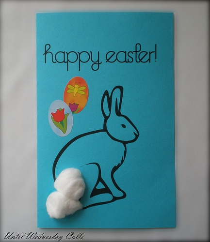Free printable Super easy Easter card for kid.