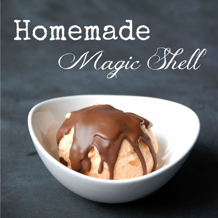 Make homemade magic shell ice cream topping in about a minute, with ...