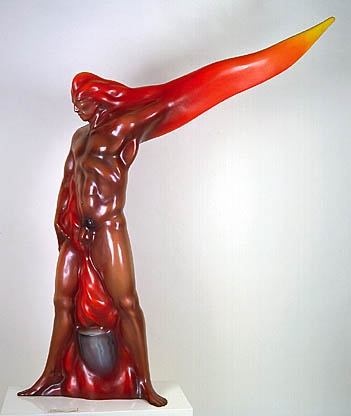 My uncle's piece, Man on Fire. Currently at the Smithsonian.