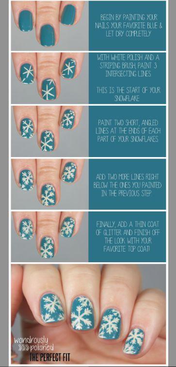 Deb Shops x Wondrously Polished Snowflake nails