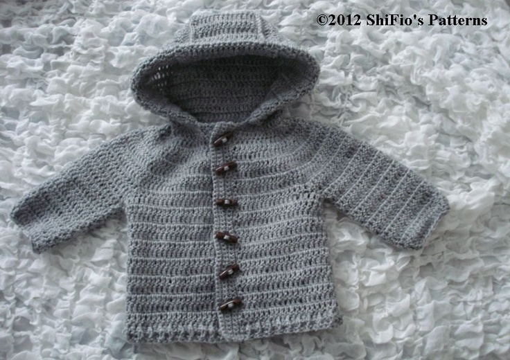 Crochet Baby Jacket Pattern : Baby Crochet Pattern Hooded Jacket 5 Sizes Crochet Pattern ...