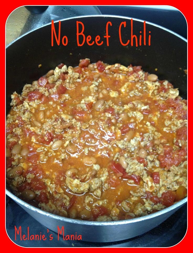 Melanies Mania: No Beef Chili - Recipe | Yumm-O | Pinterest
