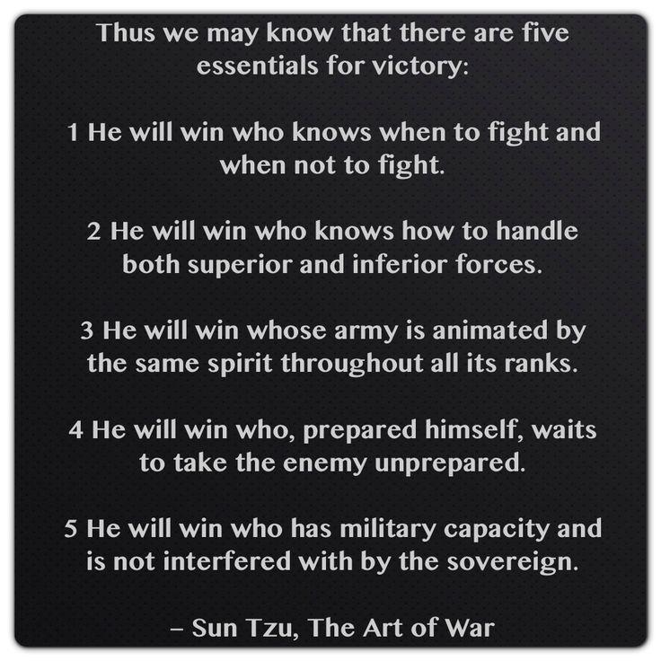 Sun Tzu Quotes On Leadership Quotesgram