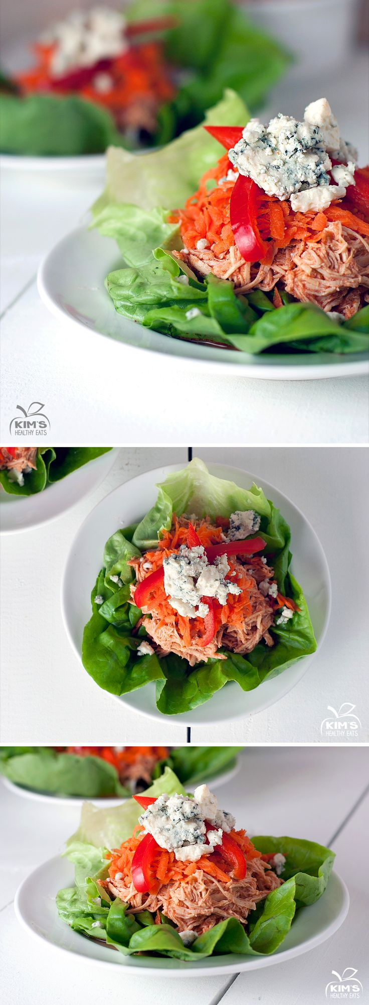Crock Pot Buffalo Chicken Lettuce Wraps | Slow Cooker | Pinterest