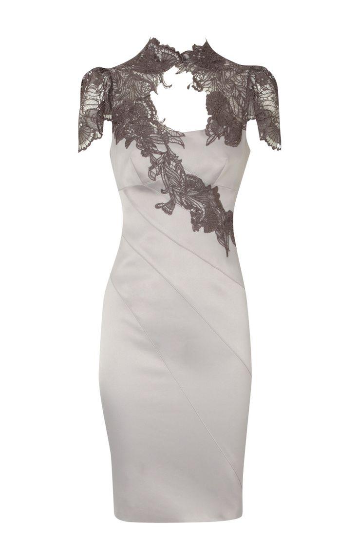 Karen Millen Floral Applique Dress ,Karen Millen DJ104 - karenmillensales-ireland.com