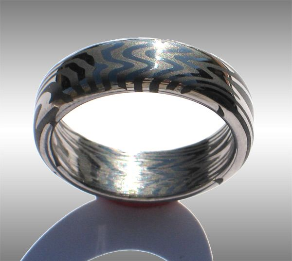 Damascus Steel Rings Care Damascus Steel Wedding Rings
