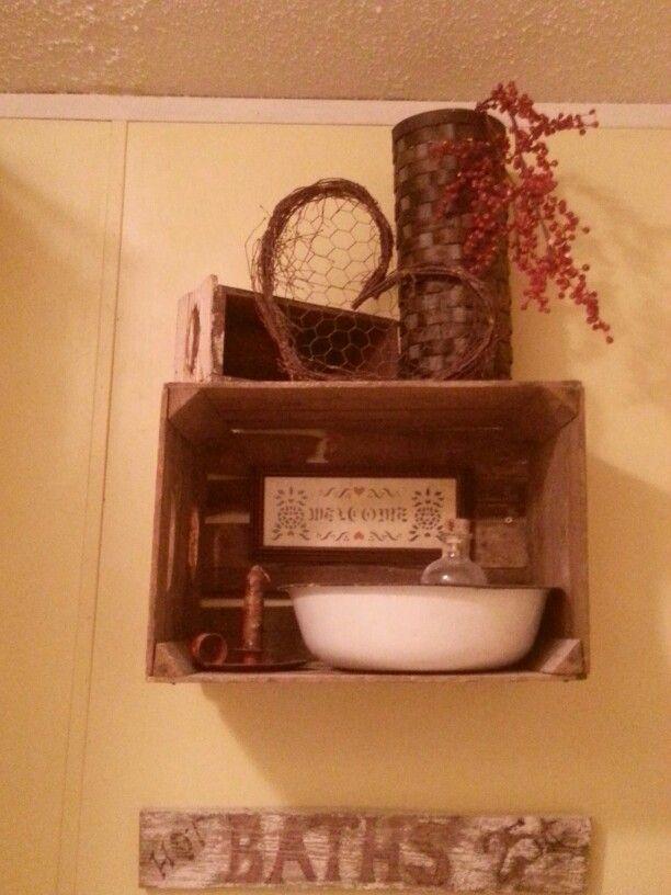 Primitive bathroom decor for the home pinterest for Primitive bathroom ideas