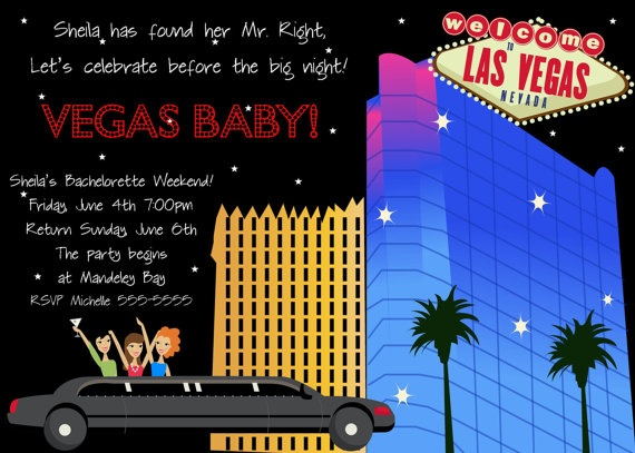 Vegas Bachlorette invite by delightfulprints