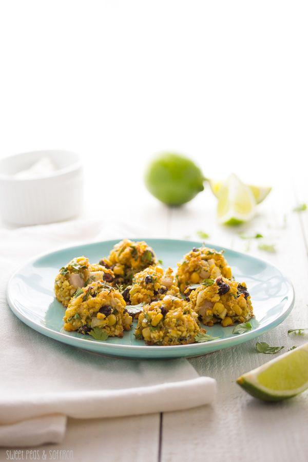 Chunky Baked Corn & Black Bean Falafels | sweetpeasandsaffron.com. # ...