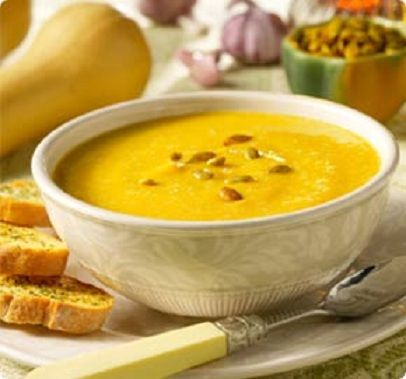 Butternut squash soup with apple and sage, light in texture and big on ...