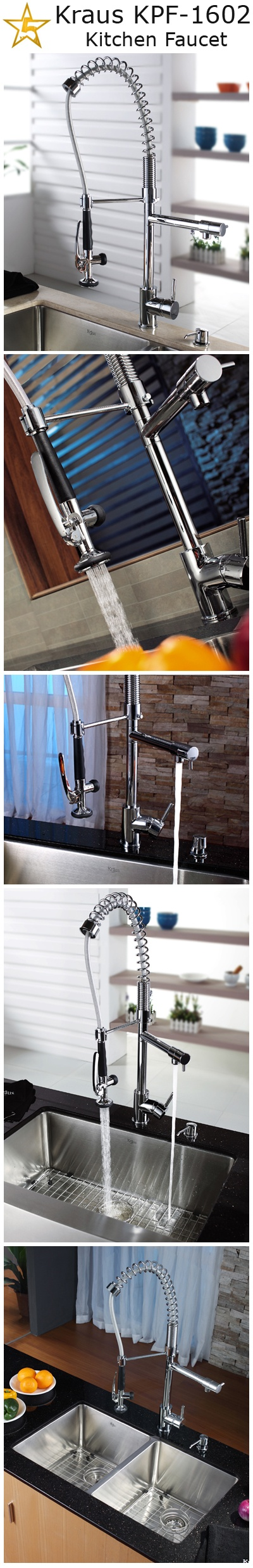 Kraus KPF-1602 Single Lever Pull Out Kitchen Faucet